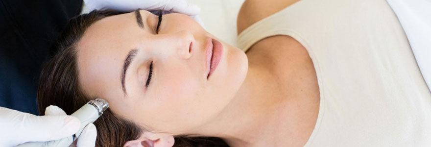 hydradermabrasion pour la peau